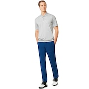 Perf Ellipse Golf Polo Short Sleeve - Granite Heather