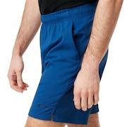 Enhance Slant Double Cloth Shorts 7Inch - Dark Blue