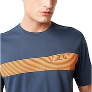 249 Future Stripe Tee - Foggy Blue
