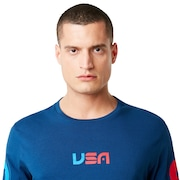 USA Star Long Sleeve Tee - Dark Blue