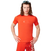 Ellipse Logo Rashguard - Fire Red