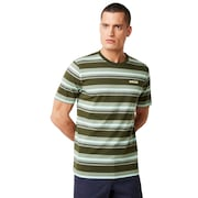 Bold Yd Stripe Tee - Dark Brush