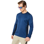 Knockdown Mixed Fleece Crew - Dark Blue
