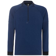 Knockdown Mixed Fleece 1/4 Zip - Dark Blue