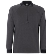 Knockdown Mixed Fleece 1/4 Zip - Forged Iron