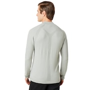 Engineered 1/4 Zip Sweater - Light Gray