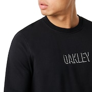 Clean Logo Crew Fleece - Blackout