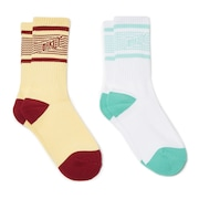 Socks Striped (2 Pcs Pack) - White