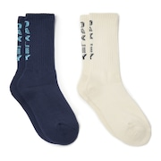 Socks Vertical (2 Pcs Pack) - Foggy Blue