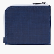90'S Zip Small Wallet - Dark Blue