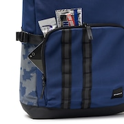 Utility Rolled Up Backpack - Dark Blue Reflective