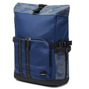 Utility Rolled Up Backpack - Dark Blue Reflective