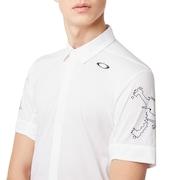 Skull Double Brassard Shirts - White