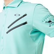 Skull Claw Zip Shirts 4.0 - Aqua Green