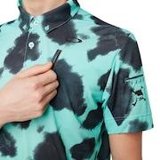 Skull Mottle Shirts - Turquoise Print