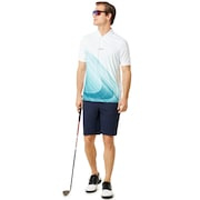 Exploded Ellipse Golf Polo Short Sleeve - White