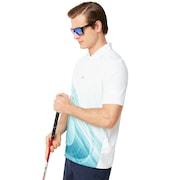 Exploded Ellipse Golf Polo Short Sleeve - White