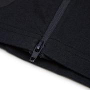 Zip Paneled Short Sleeve Tee - Charcoal