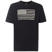 SI Distressed Flag Tee - Blackout