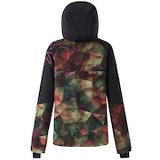 Hourglass Softshell 3L 10K Jacket - Geo Camo Green Pink