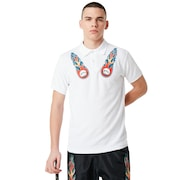 Tnp Lighting Bolt Polo Short Sleeve - White