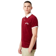 Tnp Chenille Polo Short Sleeve - Sundried Tomato