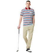 Tnp Striped Polo Short Sleeve - Stripe Sundried