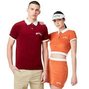 Tnp Chenille Polo Short Sleeve - Dark Orange