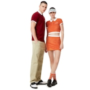 Tnp Chenille Polo Short Sleeve - Dark Orange