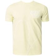 Staple Graffiti T-Shirt Short Sleeve - Pale Lime Yellow