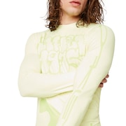 Staple 1975 Rashguard Long Sleeve - Pale Lime Yellow