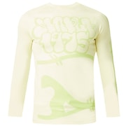 Staple 1975 Rashguard Long Sleeve - Pale Lime Yellow