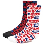 Oakley Socks USA (Pck 2) - White