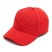 6 Panel Stretch Hat Embossed - High Risk Red