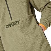 Fluffy Half Zip Jacket - Washed Army