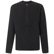 Fluffy Half Zip Jacket - Blackout