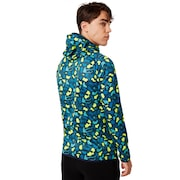 Enhance Graphic Knit Hoody 9.7 - Blue Storm Print