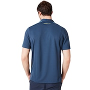 Perforates Solid Polo - Foggy Blue
