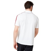 Perforates Solid Polo - White