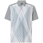 Cross Graphic Polo - Steel Gray