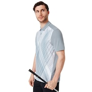 Cross Graphic Polo - Steel Gray