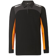 Oakley Racing Team Long Sleeve Polo - Blackout