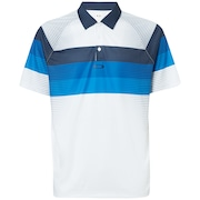 Color Block Graphic Polo - White