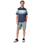 Color Block Graphic Polo - Foggy Blue