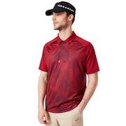 Mirror Graphic Polo - Raspberry
