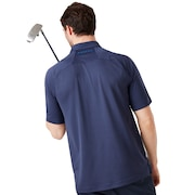 Mirror Graphic Polo - Foggy Blue