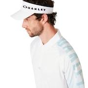 Graphic Logo Sleeves Polo - White