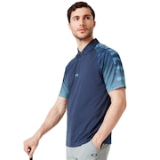 Graphic Logo Sleeves Polo - Foggy Blue