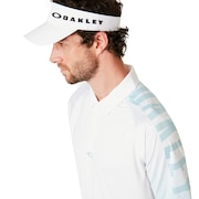 Graphic Logo Sleeves Polo - White