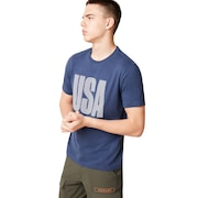 USA Allover Tee - Foggy Blue